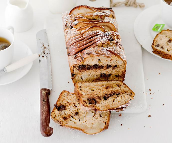 Pear, chocolate and ginger loaf
