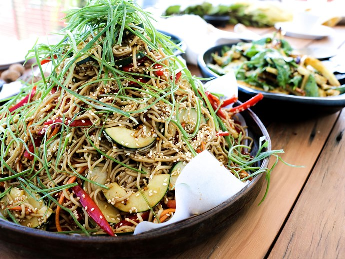 Madame Lu's tamari soba noodles with toasted sesame