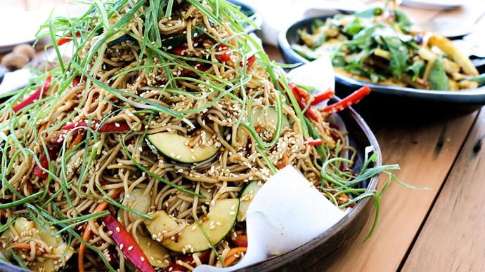 Madame Lu's tamari soba noodles with toasted sesame
