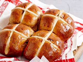fig maple and walnut hot cross buns