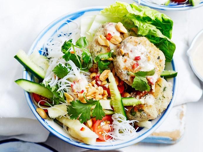 Vietnamese coconut chicken and lemongrass noodles