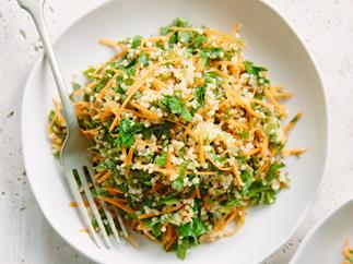 Herbed millet and carrot salad