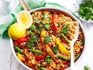 Smoky vegetable paella