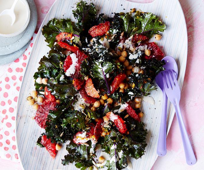 kale, orange and seed salad
