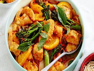 Mandarin fish and chilli jam