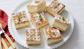 Lattice biscuit citrus cheesecake