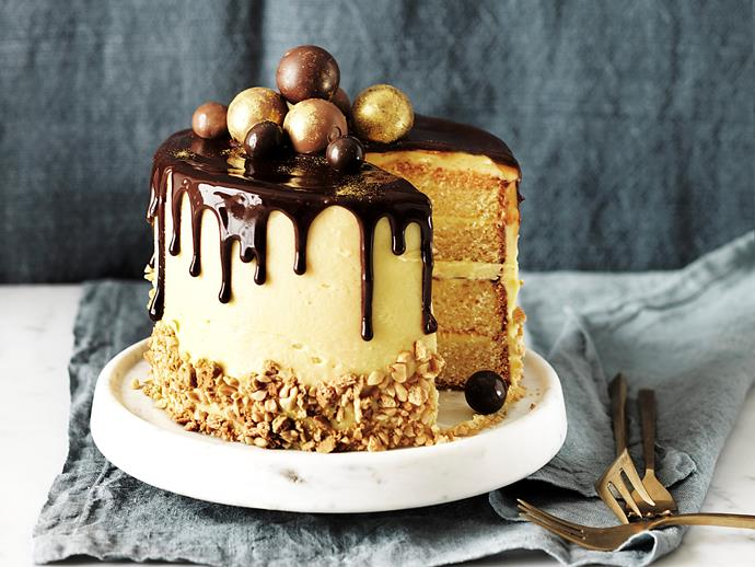 "Pull out all the stops for your next birthday with this incredible [Golden Gaytime-inspired cake](https://www.womensweeklyfood.com.au/recipes/golden-gaytime-cake-2143|target=""_blank""). This four-layer wonder is coated in a delicious malted buttercream and playfully decorated with a rich dark chocolate ganache and your favourite chocolates. Absolutely stunning!"