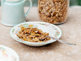 Feijoa and coconut granola