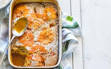 Zingy ginger and grapefruit sponge pudding