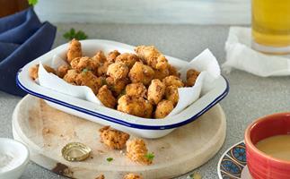 Crispy popcorn chicken