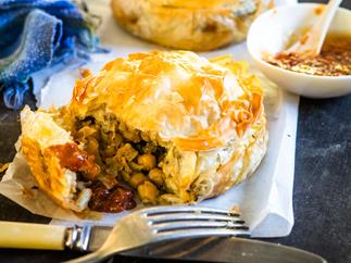 Courgette and chickpea pie