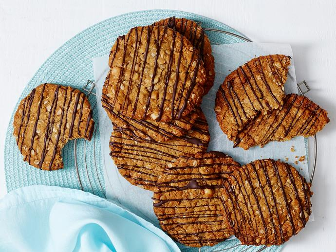 """**[Giant Anzac biscuits](https://www.womensweeklyfood.com.au/recipes/giant-anzac-biscuits-2193