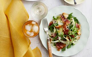 Fennel, prosciutto and parmesan salad