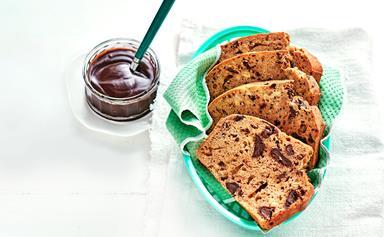 Choc-chunk banana bread