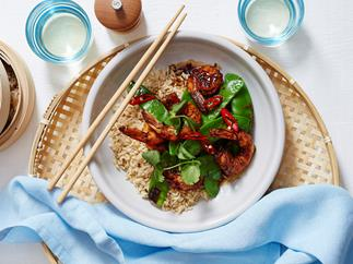 prawn and snow pea stir-fry recipe