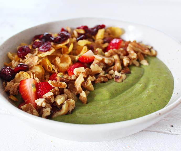 Will and Steve's green smoothie bowl