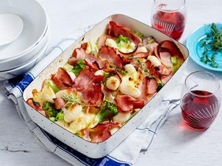 bacon and broccoli gnocchi bake recipe