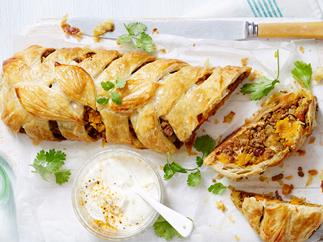 moroccan pumpkin and lamb plait recipe