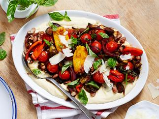 balsamic glazed vegetables with polenta recipe