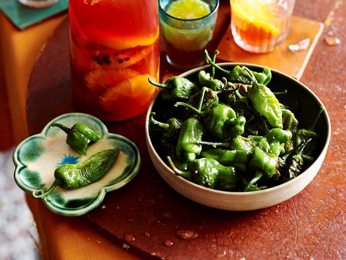"**[Pimientos de Padron](https://www.womensweeklyfood.com.au/recipes/pimientos-de-padron-2234|target=""_blank"")** These mild chillies hail from Padron in a northwestern province of Spain. Lightly fried and finished off with a sprinkle of sea salt, they're the perfect quick addition to any tapas or dinner spread."