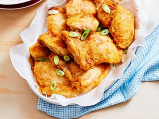 Baked southern fried chicken