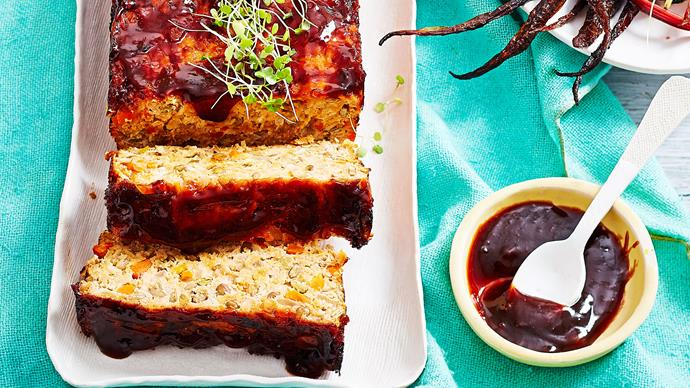Old-fashioned devilled turkey meatloaf