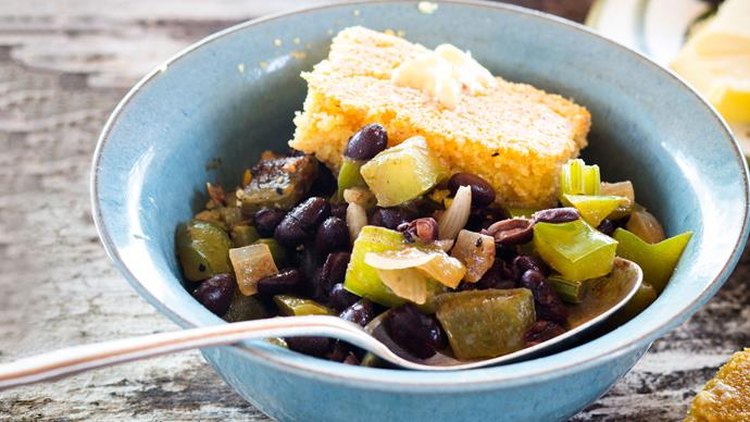 Southern beans and buttery cornbread