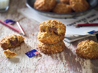 Caramel-loaded Anzac biscuits