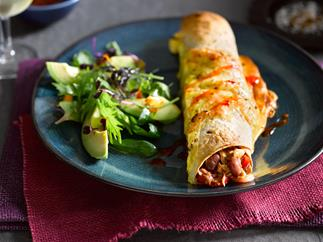Tuna and chilli bean enchiladas