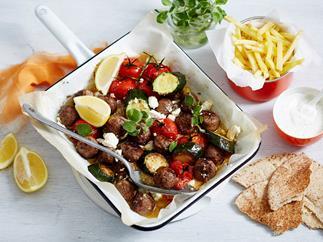 greek meatball bake recipe