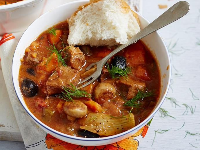 """**[Beef marengo](https://www.womensweeklyfood.com.au/recipes/beef-marengo-2277