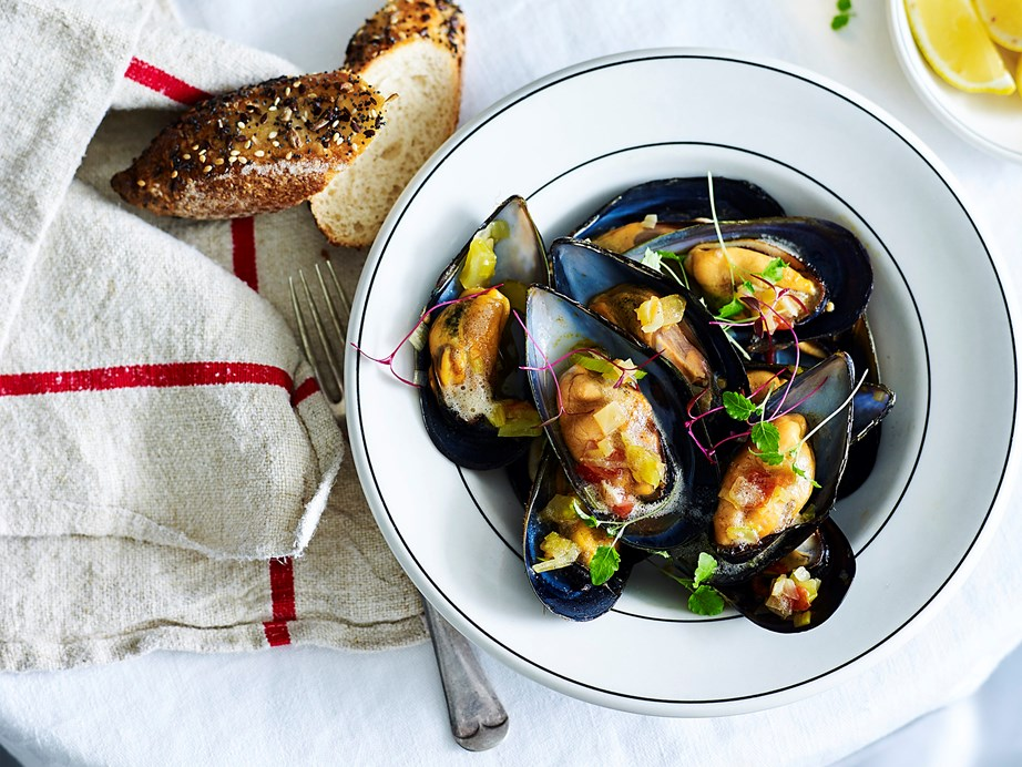 "Also known as moules provençale, this recipe for [French mussels](https://www.womensweeklyfood.com.au/recipes/provencale-mussels-2284|target=""_blank"") are made with tomatoes, herbs and garlic for a truly French seafood experience."
