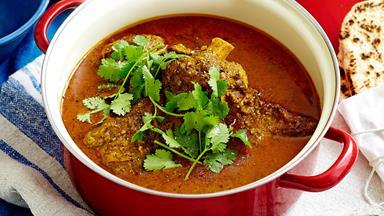 One-pot Goan lamb shank curry with coriander