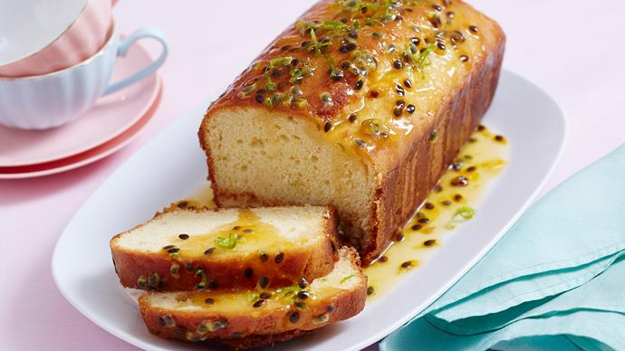 lime and passionfruit syrup cake recipe