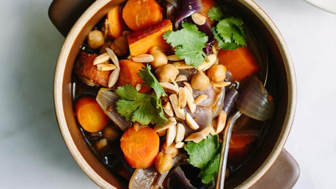 Winter vegetable tagine