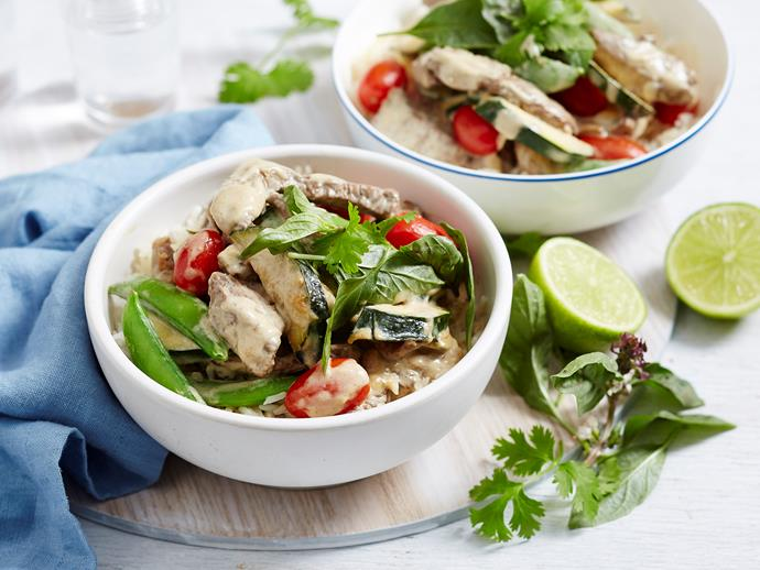 "Fragrant, flavoursome and filling, this quick [Thai beef green curry](https://www.womensweeklyfood.com.au/recipes/beef-green-curry-2297|target=""_blank"") is just what you need when you don't have time to cook. It's freezer-friendly, too, and can even be transformed into a tasty pot pie. Dig in!"