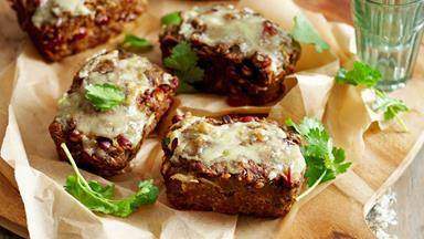 Mini Mexican beef and bean cheesy meatloaves