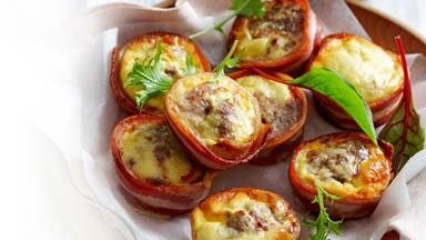 Bacon and egg meatloaf cups