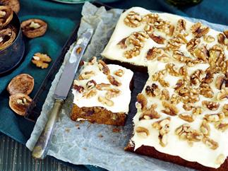 spiced pumpkin and walnut cake recipe