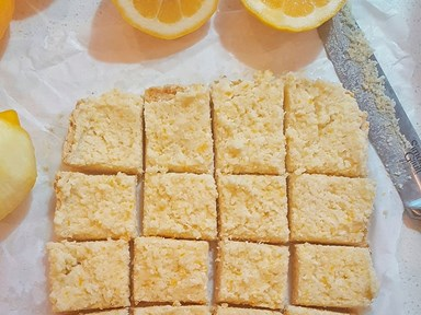 Zesty raw lemon slice (dairy-free and nut-free)