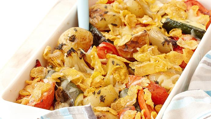 mixed vegetable and tofu gratin recipe