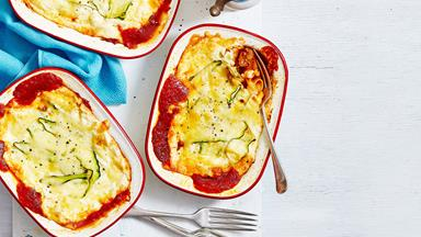 Cheat's lasagne with pork and mushroom