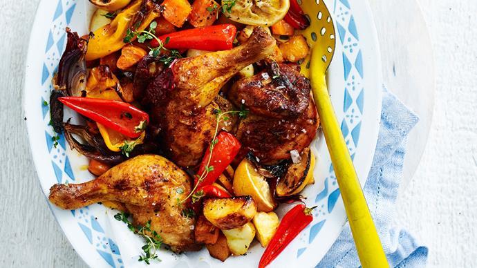 Mediterranean chicken bake