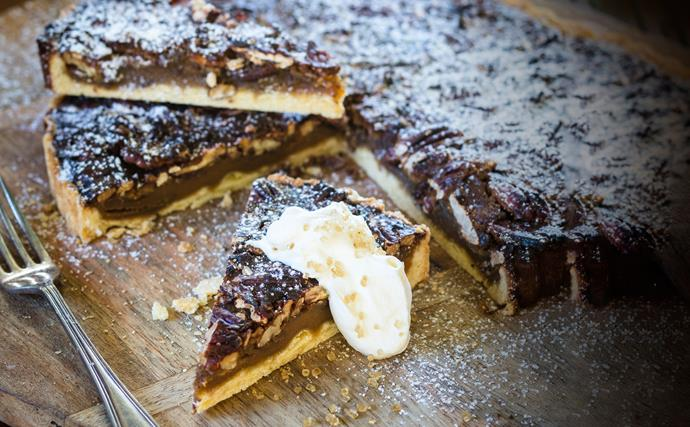 Luscious pecan tart