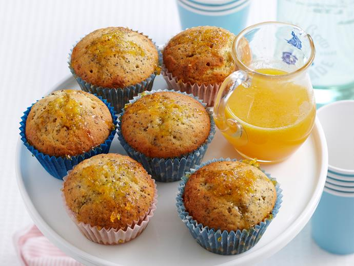 """These gorgeous [orange and poppyseed cupcakes](https://www.womensweeklyfood.com.au/recipes/orange-and-poppyseed-cupcakes-27302