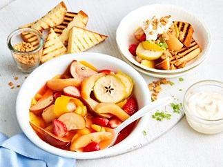 poached winter fruit recipe