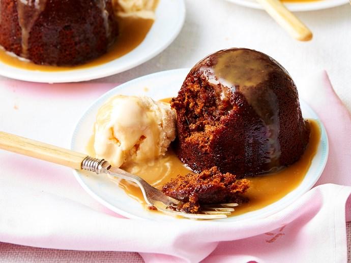caramel and walnut date puddings recipe