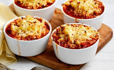 Beef cottage pie with parsnip topping