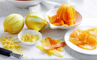 citrus fruit zest rind difference
