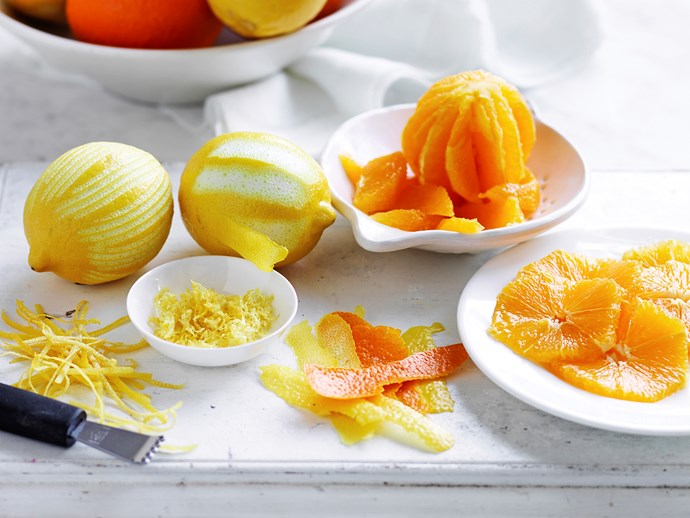 citrus fruit zest rind difference